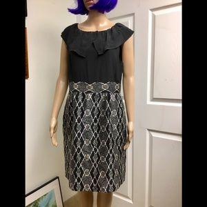 Tibi silk wool dress size 10